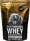 nu3 Whey protéines performance - 1kg vanille - Shake pour prise de masse musculaire rapide à préparer - Excellente solution sport et délicieux goût vanille - Riche en protéines naturelles