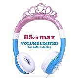 OneOdio Kinder Kopfhörer mit Lautstärkebegrenzung 85dB, Mädchen Prinzessin Kinderkopfhörer ab 3 Jahre, On Ear Headset 3.5mm Kabelgebundene Leicht Kopfhörer (Pink&Blau), Kinder