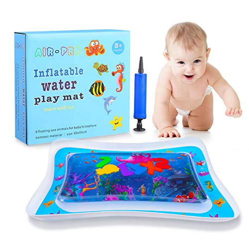 Baby Inflatable Tummy Time Water Mat for Infants Toddlers Perfect Fun time Play Activity Center Leakproof BPA Free Water Mat Toy for Newborns Engaging Fun Toys for Stimulation Growth