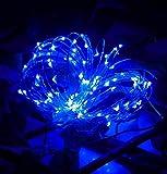 ✽ZEZKT-Home✽3M 30LED Fairy Lights Lichterketten für Weihnachten Hochzeit Party Dekoration Warm Led Light Wattebausch LED Lichterkette (Blau)