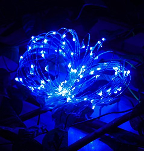 ✽ZEZKT-Home✽3M 30LED Fairy Lights Lichterketten für Weihnachten Hochzeit Party Dekoration Warm Led Light Wattebausch LED Lichterkette (Blau)