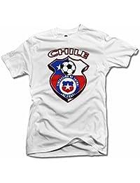 Chile Shield blanco futbol camiseta hombres de la T (6.1oz)