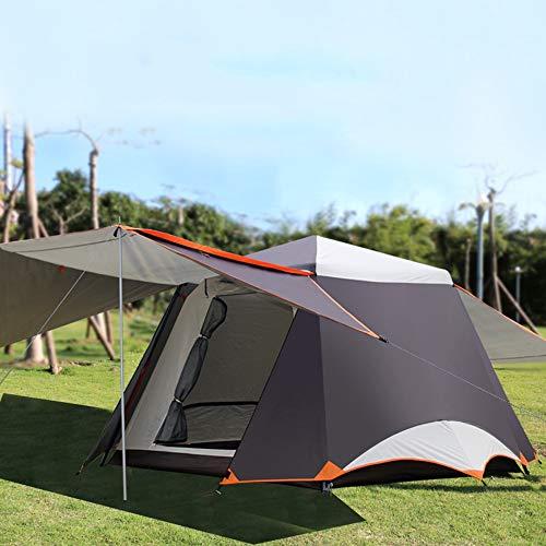 Tenda da campeggio a doppio strato for esterni tenda da campeggio tenda impermeabile velocità automatica tenda a soffietto aperta può ospitare 3-4 persone (color : brown)
