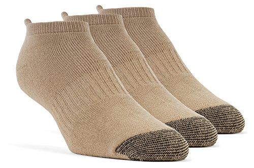 YolBer Damen Socken, Sportsocken, gepolsterte super weiche, Baumwoll Laufsocken - 3 Paar, Mittelgroß, Beige