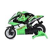 Dilwe Moto RC, 2,4 GHz Moto de Course à Vitesse Modèle de Moto télécommandée Jouet pour Enfants(Vert)...