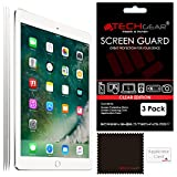 "[Pack of 3] TECHGEAR� New Apple iPad (2017 / 9.7"") CLEAR Screen Protector Guard Covers with Cloth & Applicator Card"