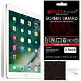 """TECHGEAR [Pack of 3] Screen Protectors for New iPad 9.7"""" (2018/2017) - Clear Screen Protector Guard Cover with Cloth & Applicator Card, Compatible with Apple iPad 6th Gen & 5th Gen"""
