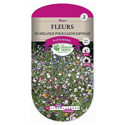 Les doigts verts Semence Fleurs Mélange pour Gazon Japonais