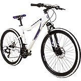 Galano GX-26 26 Zoll Frauen Mountainbike Hardtail MTB (Weiss/lila, 44cm)