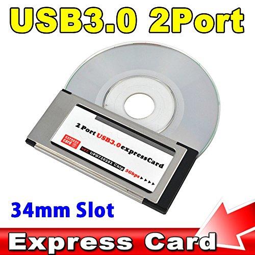 Ryrty(TM) Tarjeta PCI Express USB 3.0 ExpressCard a 2 adaptador de puerto...