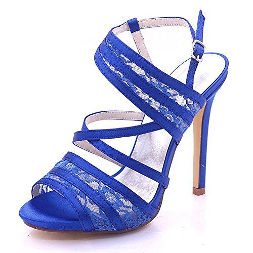 Elegant high shoes Scarpe da Sposa da Donna in Raso e Pizzo Peep Toe Tacco  Alto 7216-07 da Sposa Multicolore di Grandi Dimensioni 30602b71701