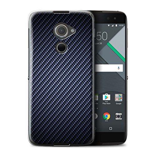 Stuff4® Hülle/Case für BlackBerry DTEK60 / Blau Muster/Kohlenstoff-Faser-Muster Kollektion