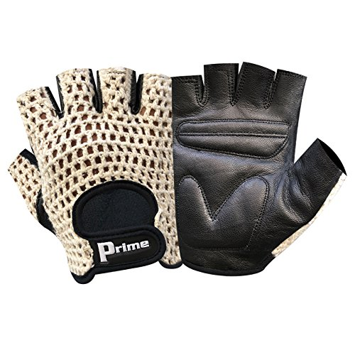 Prime-Finger-Less-Net-Cycle-Padded-Gloves-Biker-Fitness-Gym-Body-Building-Weight-Lifting-Glove-411
