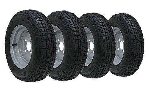 """4 - 10 """"rueda del remolque de la pulgada y neumático 145 10 6 ply 400kgs 76M 4 perno 100m m pcd"""