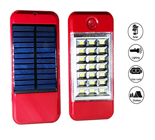 Buy Us1984 2018 Solar Charger Portable Power Bank 1 Usb Ports With Rechargeable 21 Led Flashlight online in India at discounted price