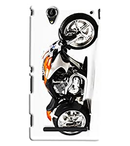 Blue Throat Sports Bike Printed Designer Back Cover/ Case For Sony Xperia T2