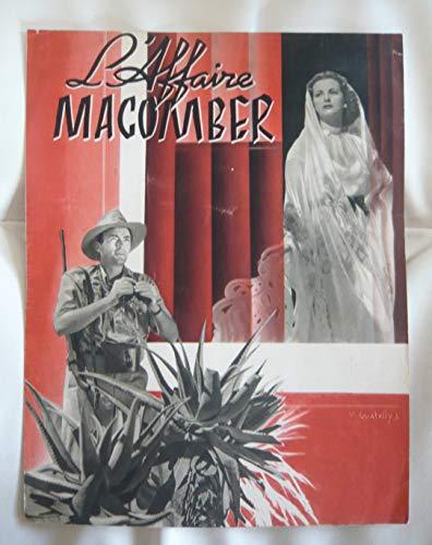 Dossier de presse de L'affaire Macomber (1947) – Film de Zoltan Korda avec Gregory Peck, Joan Bennett – Photos N&B + scénario – Bon état. par Zoltan Korda