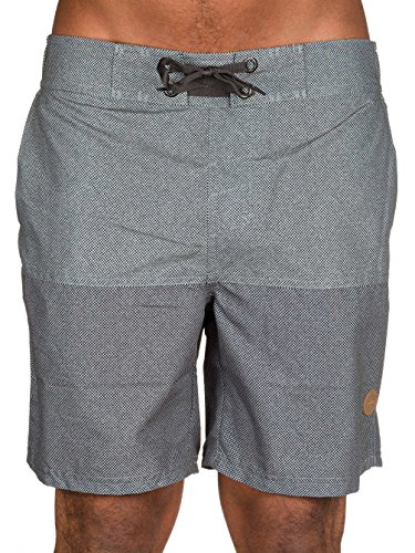 WLD Herren Boardshorts Escape West Light Grey/Dark Grey