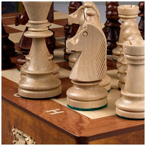 Chess-Set-Tournament-Staunton-Complete-No-6-Board-Game-Hand-Made-European-21x-21-Set