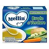 Mellin Brodo Verdure, 10 Bustine - 8 gr