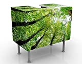 Apalis Design Vanity Trees of Life 60x 55x 35cm, Piccolo, Largo 60cm, Regolabile, lavandino, lavabo, Rubinetto per lavabo da Bagno, Armadio, unità di Base, Bagno, Narrow, Flat