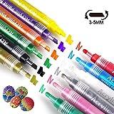 Best Art Alternatives Pens - Acrylic Paint Marker Pens BOJECHER 12 Colors Art Review