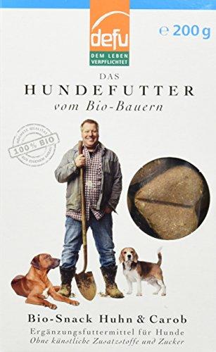 defu Bio Snack Huhn und Carob für Hunde 200 g, 3er Pack (3 x 200 g)