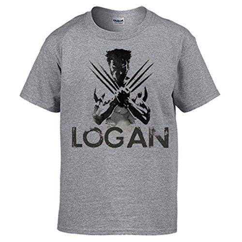 Diver Camisetas Camiseta X-Men Logan Lobezno - Gris, L