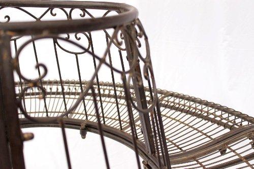 DanDiBo Rundbank aus Metall Bank JC112404 Baumbank Sitzbank Gartenbank D-150 cm H-75 cm - 5
