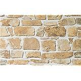Rasch 402612 papier peint en relief avec motif pierre - Papier peint imitation pierre naturelle ...