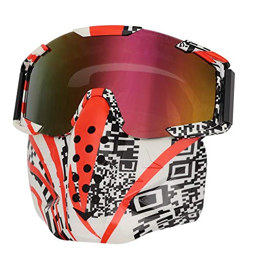 Maschera Di Sicurezza Sportiva Suuonee, i-115 Parabrezza Da Motociclista Casco Integrale Maschera Antigas Maschera Per Sport All'Aria Aperta Con Cintura Regolab