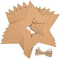 Baker Ross Fournitures de Loisirs créatifs de Noël couronnes étoiles pour Les créations et décorations de Noël (Lot de 10)
