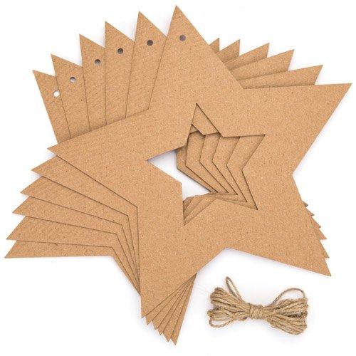 1. Baker Ross Pappkränze Stern U2013 Kreatives Bastelmaterial Für Kinder Für  Weihnachtliche Bastelarbeiten Und Dekorationen (10 Stück)