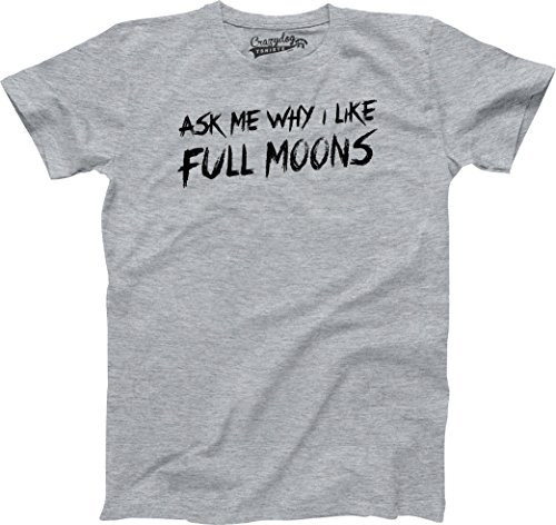 Youth Ask Me About My Werewolf Awesome Wolf T Shirt Costume for Kids (Grey) XL - Jungen - XL ()