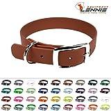 LENNIE BioThane Halsband, Dornschnalle, 19 mm breit, Größe 26-32 cm, Hellbraun, Aufdruck möglich, 4 Größen, 48 Farben, Hundehalsband