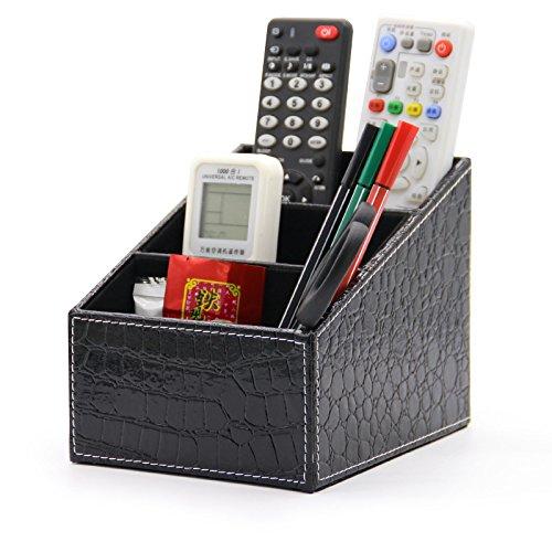 Medifier cesto da scrivania cancelleria organizer, portafoglio multifunzione da scrivania, contenitore per penne/matite, telefono cellulare, business name cards remote control black