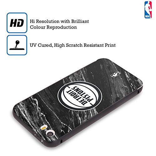 Ufficiale NBA Gradiente Mezzotono Detroit Pistons Nero Cover Contorno con Bumper in Alluminio per Apple iPhone 6 Plus / 6s Plus Marmo B&N