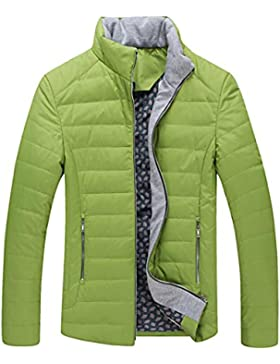 Escudo de Down chaqueta de cuello de invierno de los nuevos hombres del estilo , green , l