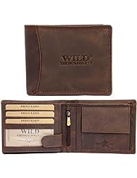521a24740ad0b Herren Leder Geldbörse Geldbeutel Portmonee Brieftasche Luxus Echt  Büffelleder Qualität Männer (Braun ...