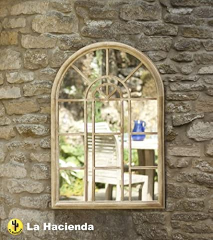 3ft 2in x 2ft 2in Stone Effect Steel Victorian Style Wall Mirror