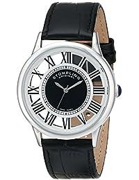 Stuhrling Original Symphony 890G - Reloj de cuarzo, para hombre, con correa de cuero, color negro