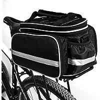 Fahrradtasche, Bodecin Outdoor Rucksack Fahrrad Rucksack Bike Gepäcktasche Gepäck Paket Rack Taschen Gepäckträger Tasche mit Regendichtes Abdeckung