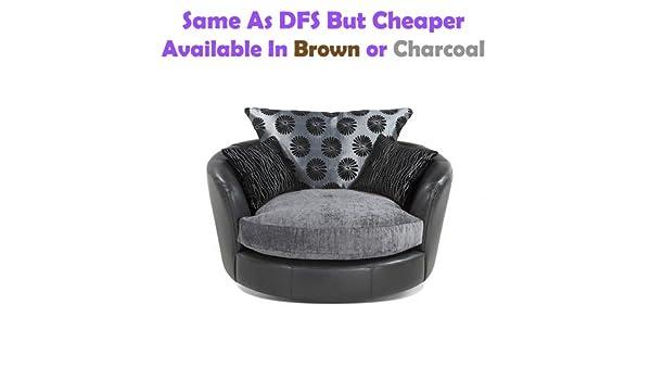 Terrific Swivel Chair Fabric Leather Sofa Like Dfs But Cheaper Bralicious Painted Fabric Chair Ideas Braliciousco