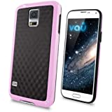 vau Bumper Cuboid - pink - TPU Silikon-Case, Tasche für Samsung Galaxy S5