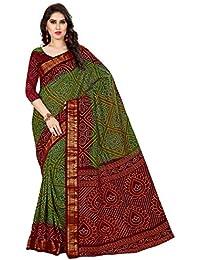 Bandhani Saree(Famaous Rajasthani Bandhani Print Saree With Blouse By Roop Craft)