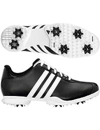 NUEVO Adidas Conductor puede Zapatillas de golf de piel de blanco y negro (UK 5)