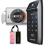 2pcs of Key Tags + SAMSUNG SHS-2320 digital door lock keyless touchpad security EZON + Double Claw Bolt by Samsung