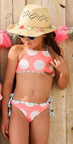 Snapper Rock Mädchen Coral Fish Bikini, Korallrot, 116-122cm/5-6 Jahre