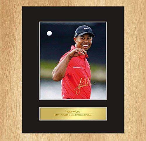 Foro con autografo di Tiger Woods, golf