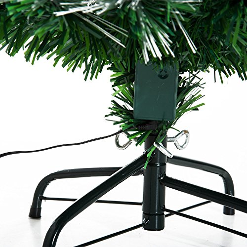 98aabc4d42780 HOMCOM Árbol de Navidad 120cm Artificial Árboles con 130 Luces LED 7 ...